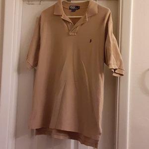 4/$20 Polo by RL sz large butterscotch polo shirt